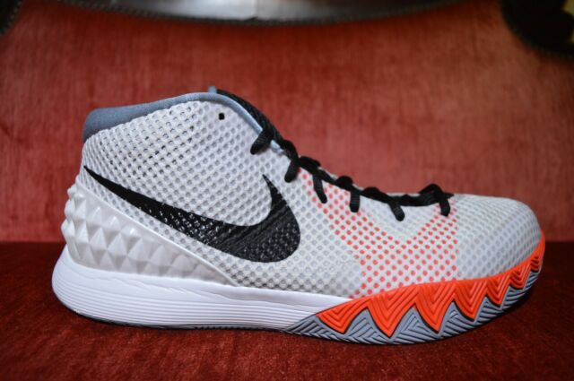 1d74e75d0341 Nike Kyrie 1 Home 705277-100 Black Infrared Red White Grey Irving Size 11.5  for sale online