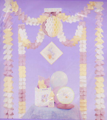 BABY SHOWER GIFT TABLE DECORATING KIT All In One Set Hanging Garland Party NEW