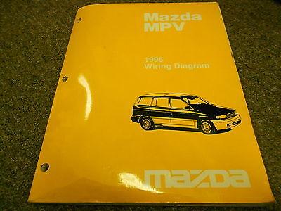 1996 Mazda    MPV       Van    Electrical Wiring    Service       Repair       Shop    Manual OEM BOOK 96   eBay
