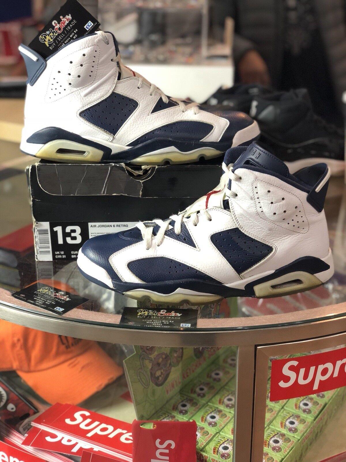 Nike Air Jordan Retro 6 VI Olympic 384664-130 Size 13