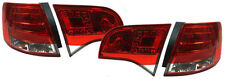 Red clear finish rear lights LED tail lights for Audi A4 B7 wagon touring 04-08