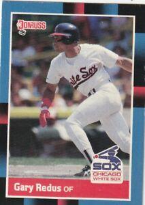 FREE SHIPPING-MINT-1988 Donruss Gary Redus #370 WHITE SOX PLUS BONUS CARDS