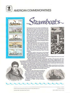 325-25c-Steamboats-Booklet-2405-2409a-USPS-Commemorative-Stamp-Panel