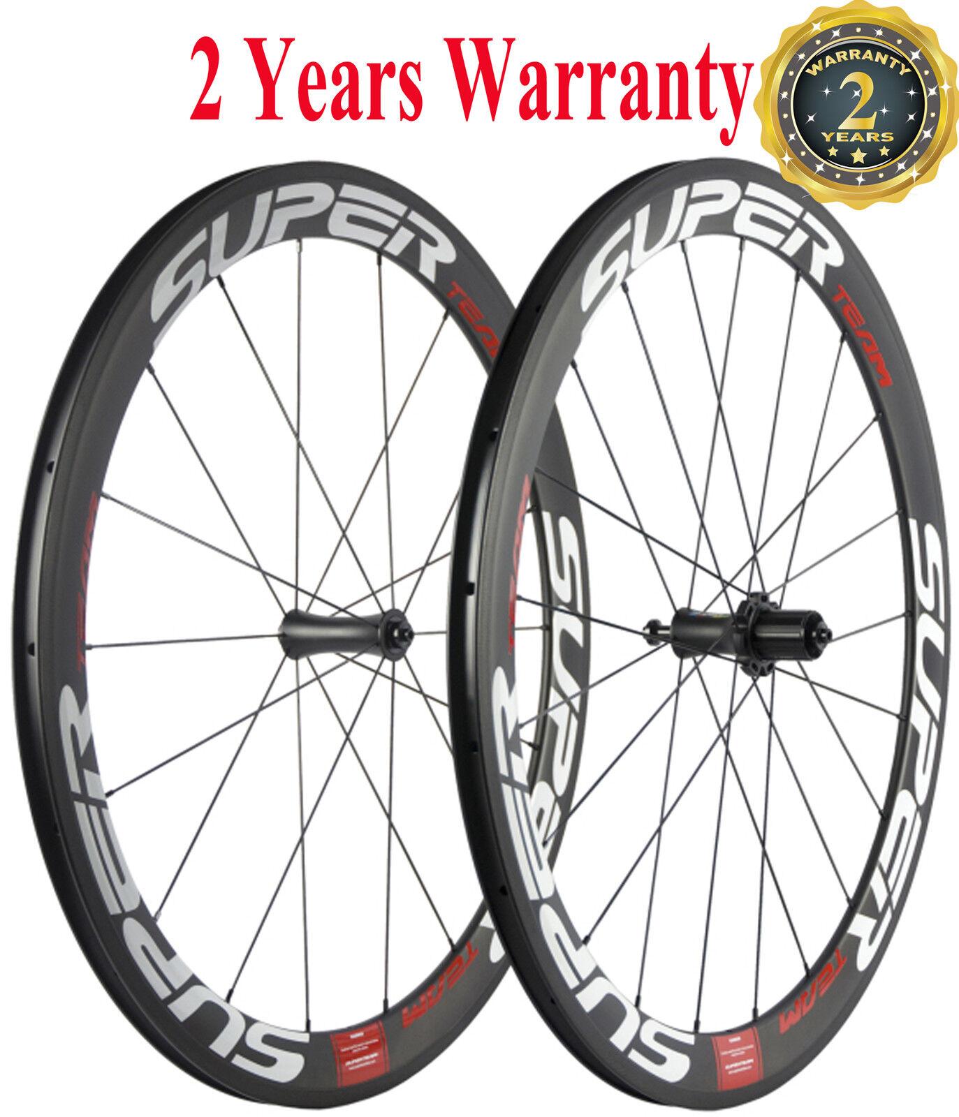 Superteam 50mm Clincher Carbon  Bike Wheels 700C Bicycle Wheelset R7 Hub Racing  cheap designer brands