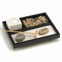 Gifts & Decor Tabletop Zen Sand Rocks Candle Holder Rake Garden Kit, New, Free S