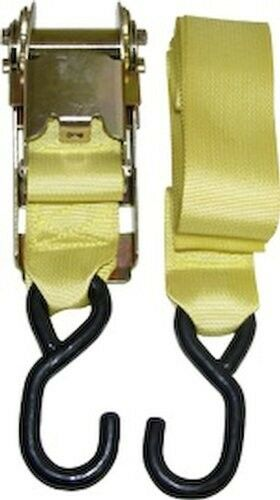 """Boat Cover Tie Down Trailering HD UTILITY RATCHET TIE DOWN STRAP 2/"""" X 14/' POLY"""