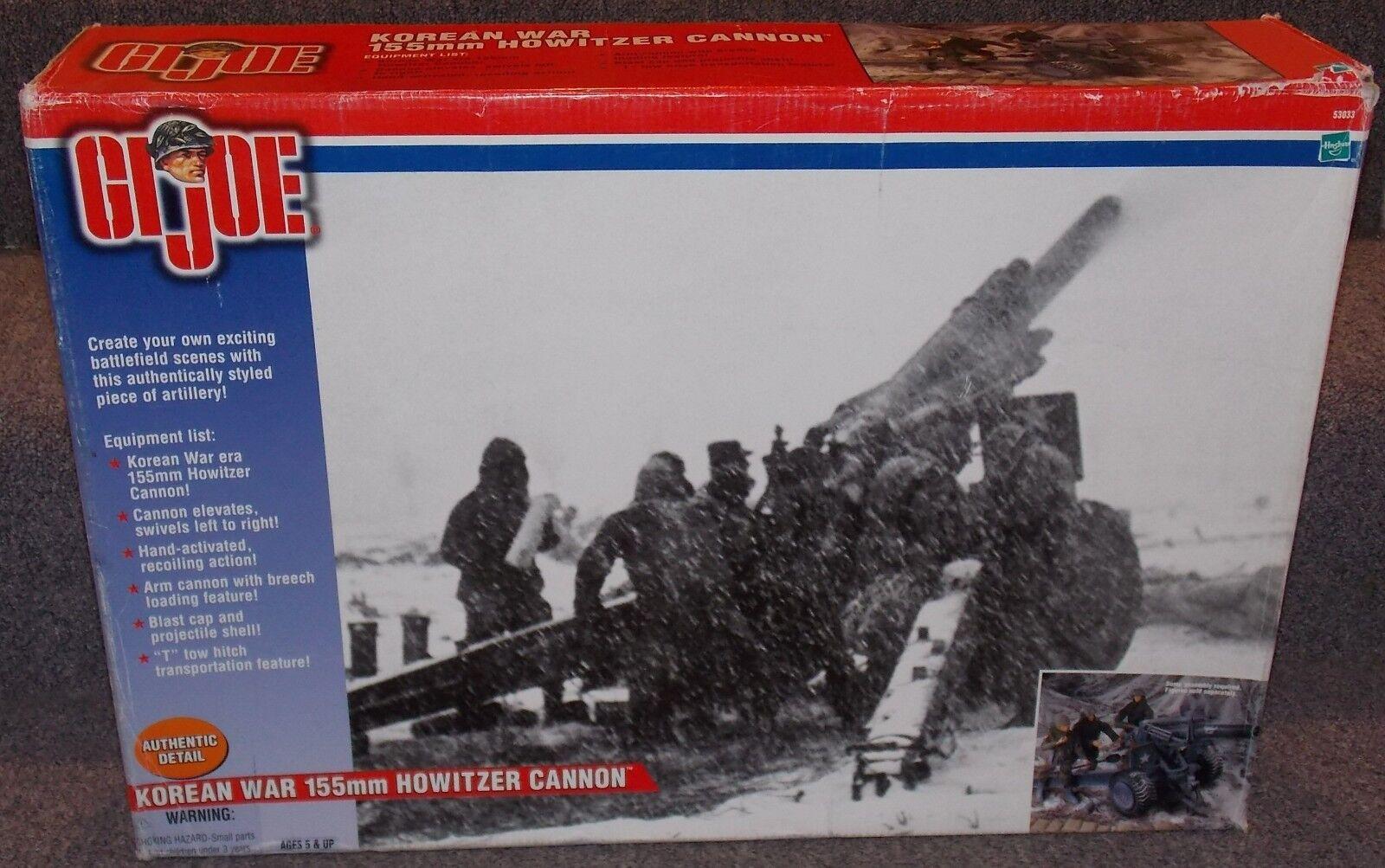 Hasbro 2001 GI Joe la guerra coreana 155 mm Howitzer Cannon in the scatola 1 6th Scale