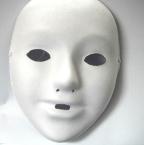 4 X SMALL CHILDRENS Kids Plain White Mask Paint Craft masquerade MASKS PARTY