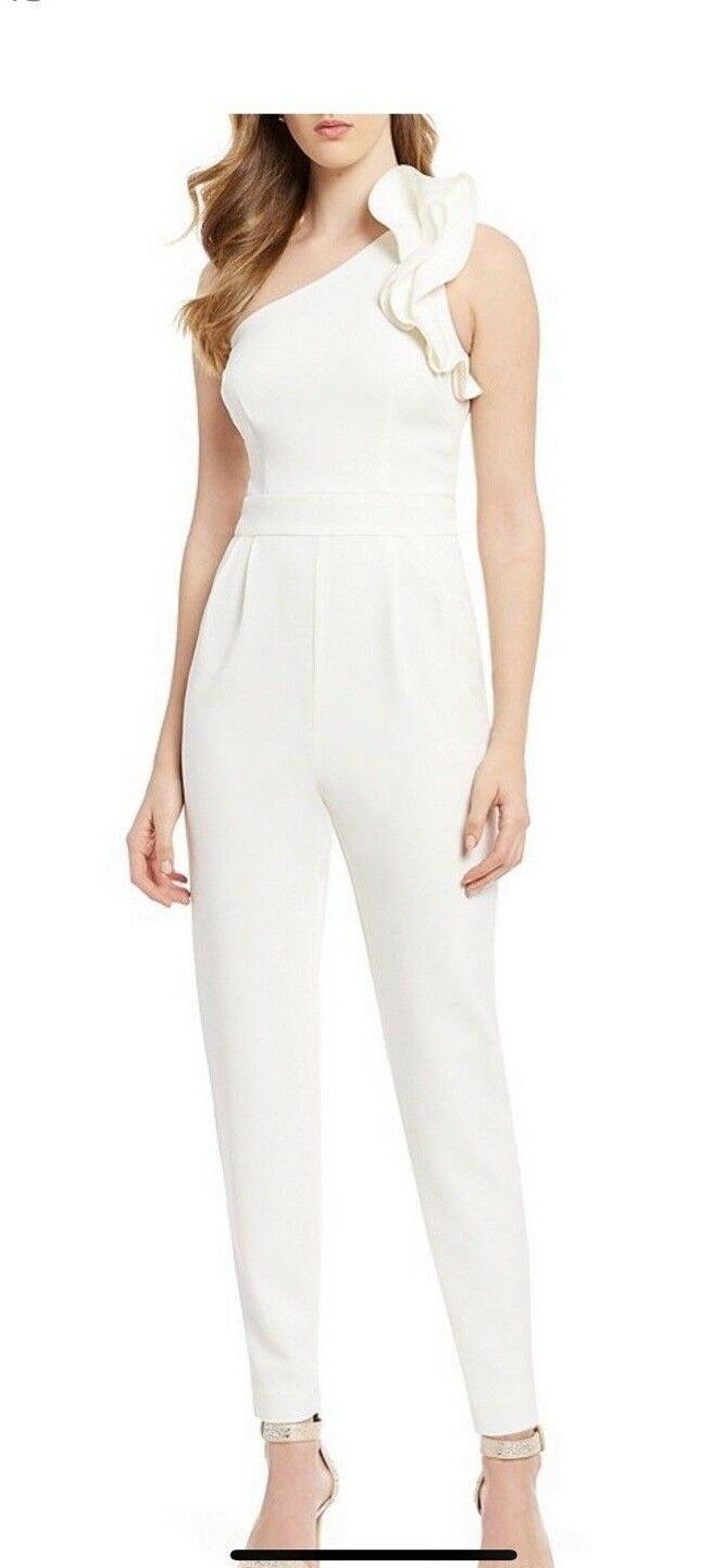ELIZA J JUMP SUIT INSEAM 32   OFF WHITE NEW WITH TAG RETAIL SIZE 12