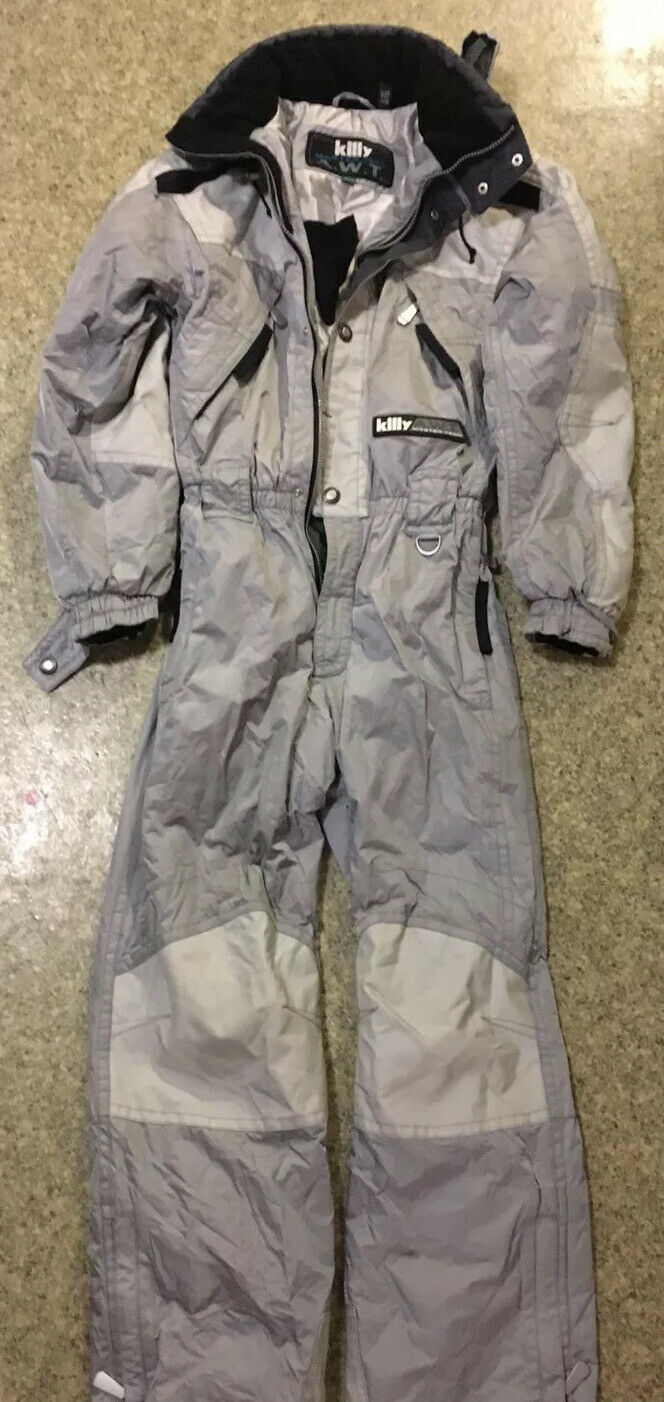Killy Master Tech AWT Größe 14 Years Ski Suit In Great Condition Silber grau