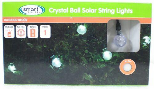 30 Solar String Lights Integrated LED Crystal Balls Globes Outdoor String Set