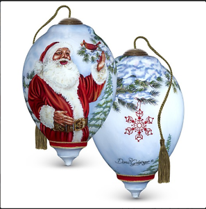 Neqwa ne/'qwa Dona Gelsinger Santa /& Cardinal Fearthered Friend Ornament 7171123