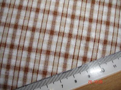 1 Laufmeter Stoff Baumwolle 2,74€/m² kariert braun AB97