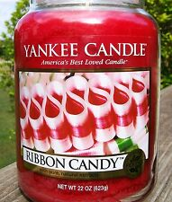 """Yankee Candle Treasure """"RIBBON CANDY"""" Festive Large Red 22 oz SIZE NEW!"""