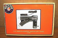 """LIONEL TRADITIONAL O TRACK 31"""" PATH REMOTE-CONTROL SWITCH - LEFT HAND 6-14062"""