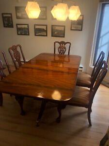 Maitland And Smith Mahogany Dining Set W 6 Hand Carved