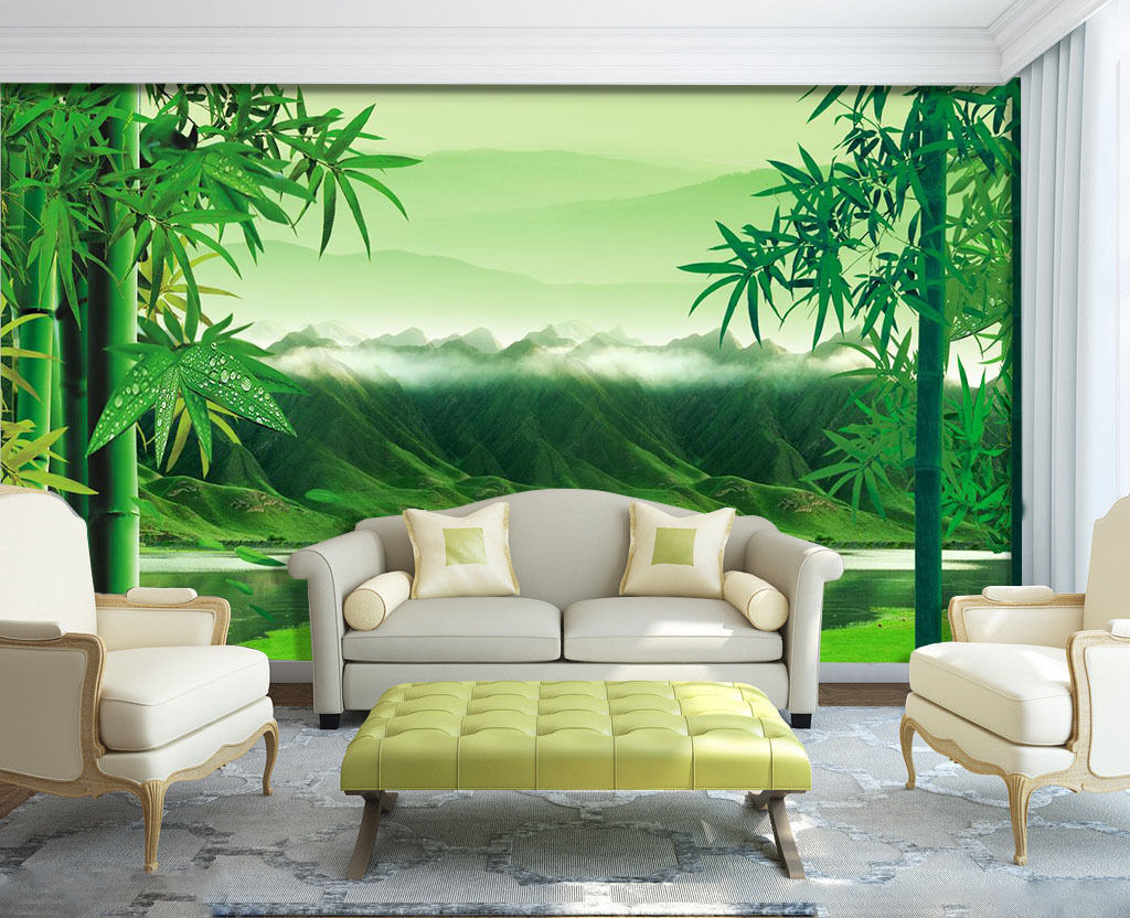 3D Grün Bamboo Mountain 851 Wall Paper Wall Print Decal Wall AJ WALLPAPER CA