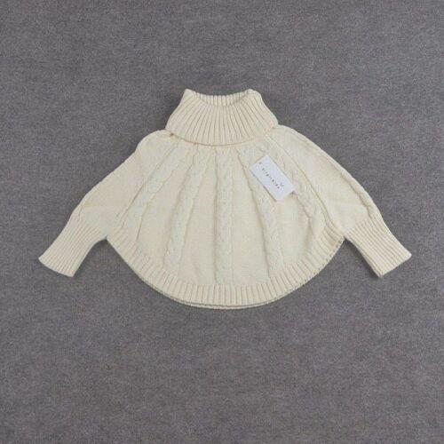 Fille Pulls col roulé Cape Ponchos bébé princesse beige fashion manteau manteau