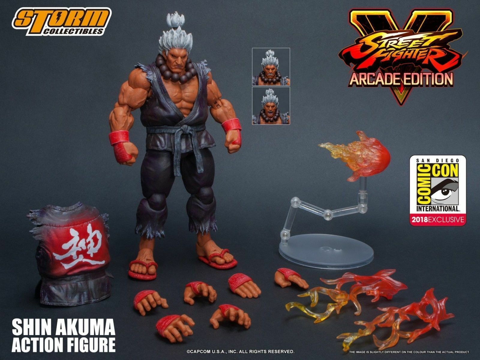 Street Fighter V Storm Collectibles SDCC Exclusive Shin Akuma 1 12 Action Figure