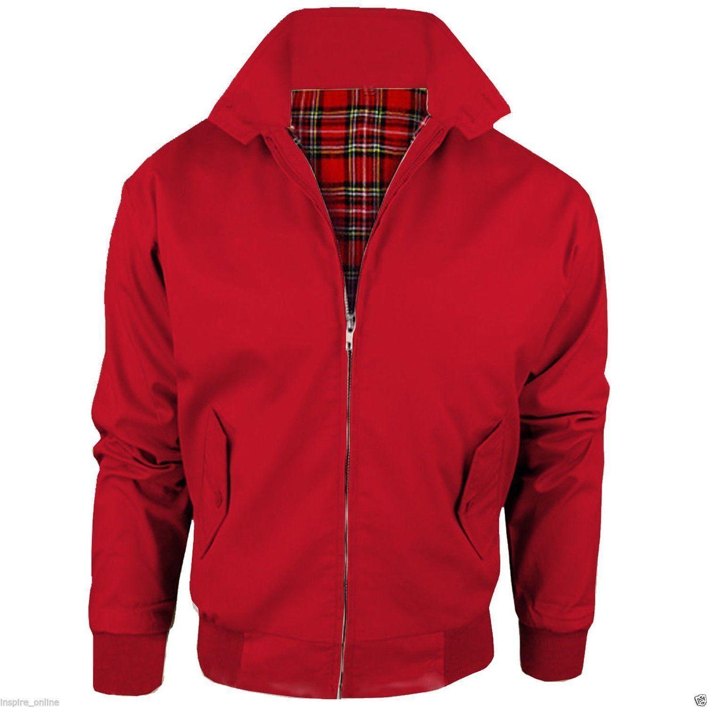 Red / Harrington Jackets Summer Tartan Lining