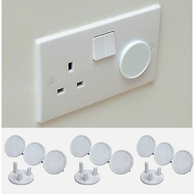 12x Round Socket Cover Child Baby Proof Plug Socket Safety Protectr Cover Insert