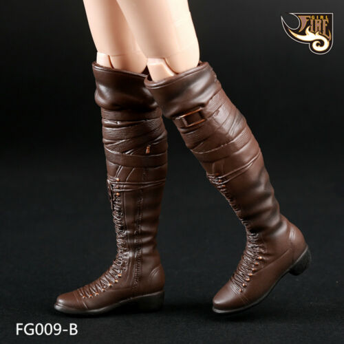 "Fire Girl Toys 1//6 Scale FG009 High Boots Brown for 12/"" Female Action Figure"