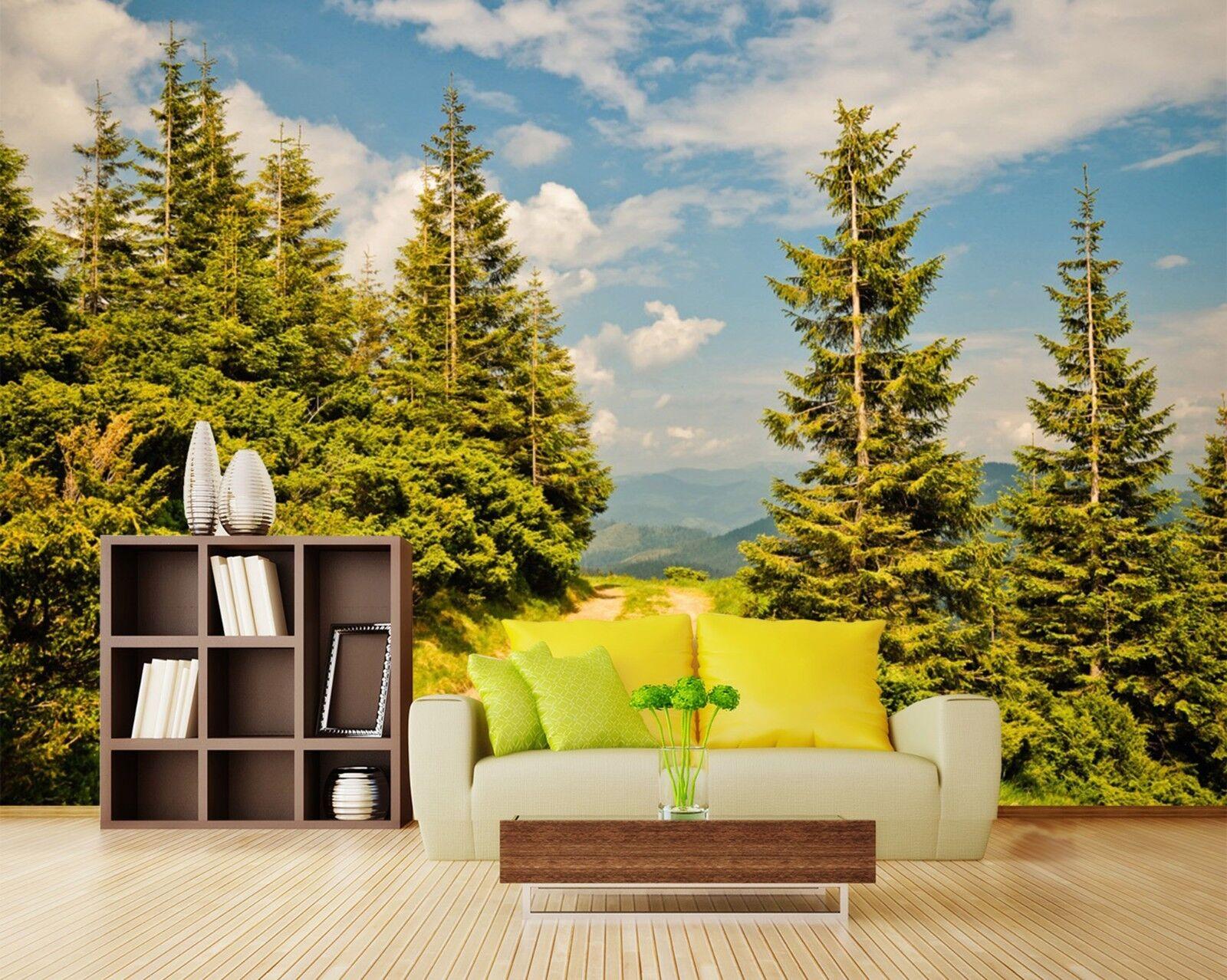3D Wälder Gehweg Himmel 7835 Tapete Wandgemälde Tapeten Bild Familie DE Lemon