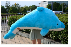 New Cute Cute Cute big couple doll Dolphin plush toy pink Baby dolphin Doll Pillow 140 cm cbaf52