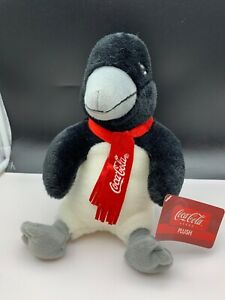 Coca-Cola-Stuffed-Toy-Penguin-10-5-8in-Never-Used-Top-Condition