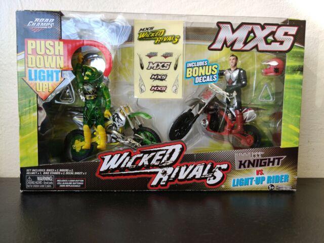 "lot 4 Road Champs MXS Wicked Rivals Police Vs Swat MIB Dirt Bike figure 3.75/"" A7"