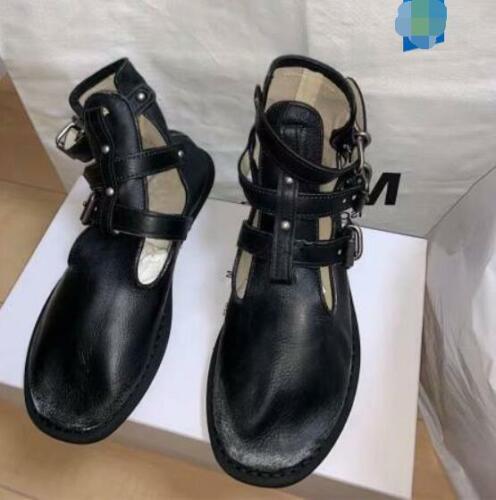 Débardeur femme fashion en cuir doux brides à Boucle Cheville Biker Bottes Chaussures qqoi
