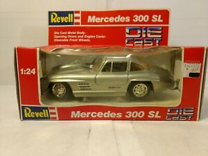 Auto- & Verkehrsmodelle Offizielle Website Revell Mercedes Benz 300 Sl Silbern 1:24 Skala-modelle #8602 Dc2586