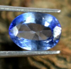Wedding Gift 2.15 Ct Blue Sapphire Gemstone Oval 100% Natural Certified A69888