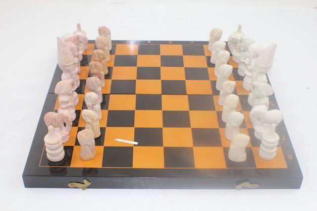 Schachfiguren Schachspiel Schach Spiel Figuren Stein