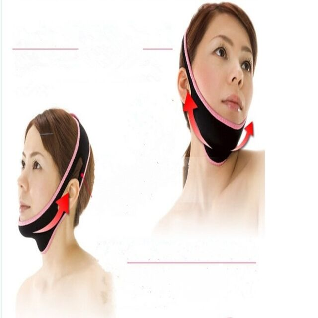New Beauty V Line Nylon Facial Mask Chin Neck Belt Sheet Anti Aging Face Tools Q