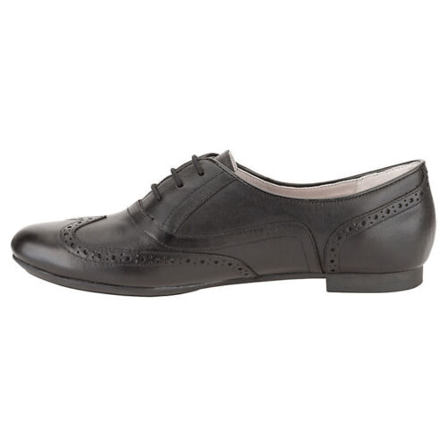 Fitting Shoes Black Up Trick Lace Brogue Ladies Leather Carousel D Clarks xtUqWnSvn8