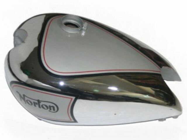 High Quality Silver Painted Chrome Petrol Tank For New Norton 16h Motorcycle