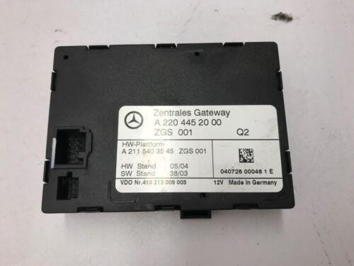 Mercedes S Class W220 Gateway Control Module A2204452000