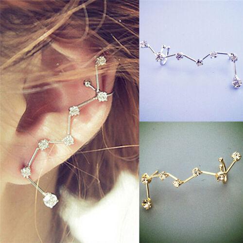 femme  boucle d/'oreille Stud Ear brassard strass oreille clipcadeau K