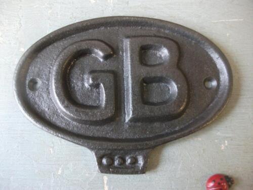 garage GB SIGN  ~ CAST IRON ~  PLAQUE ~ car