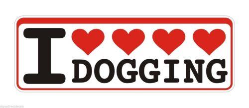 Bumper Sticker I Love Dogging Doggers Swinging funny Decal Graphic Vinyl Label