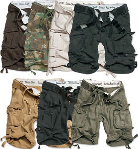 SURPLUS-DIVISION-SHORTS-MILITARY-ARMY-VINTAGE-CARGO-COMBAT-BELT-KNEE-LENGTH