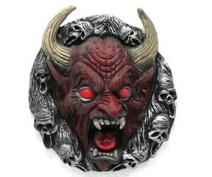Halloween Maschere.Detalles De Halloween Maschere Tra Un Diavolo E Un Minotauro Maschera In Gomma Da Appendere