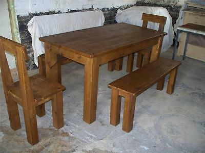 Any Size Made Solid Wooden Dining Table Benches Seats