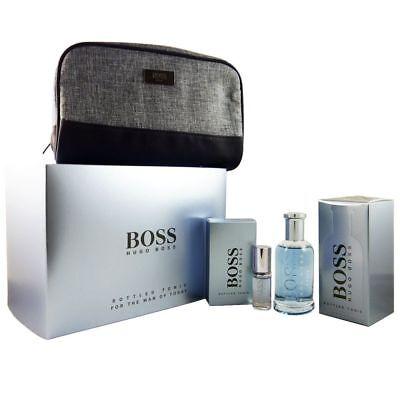 Hugo Boss Boss Bottled Tonic Set 100 ml Eau de Toilette EDT & 8 ml EDT & Tasche