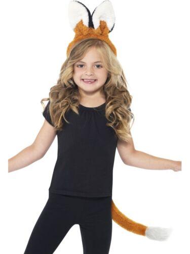 Kinder Kostüm Zubehör Fuchs Ohren Schwanz Karneval Fasching SMI