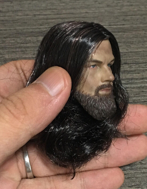 Custom 1//6 Scale Leonardo Dicaprio The Revenant Head Sculpt For Hot Toys Body