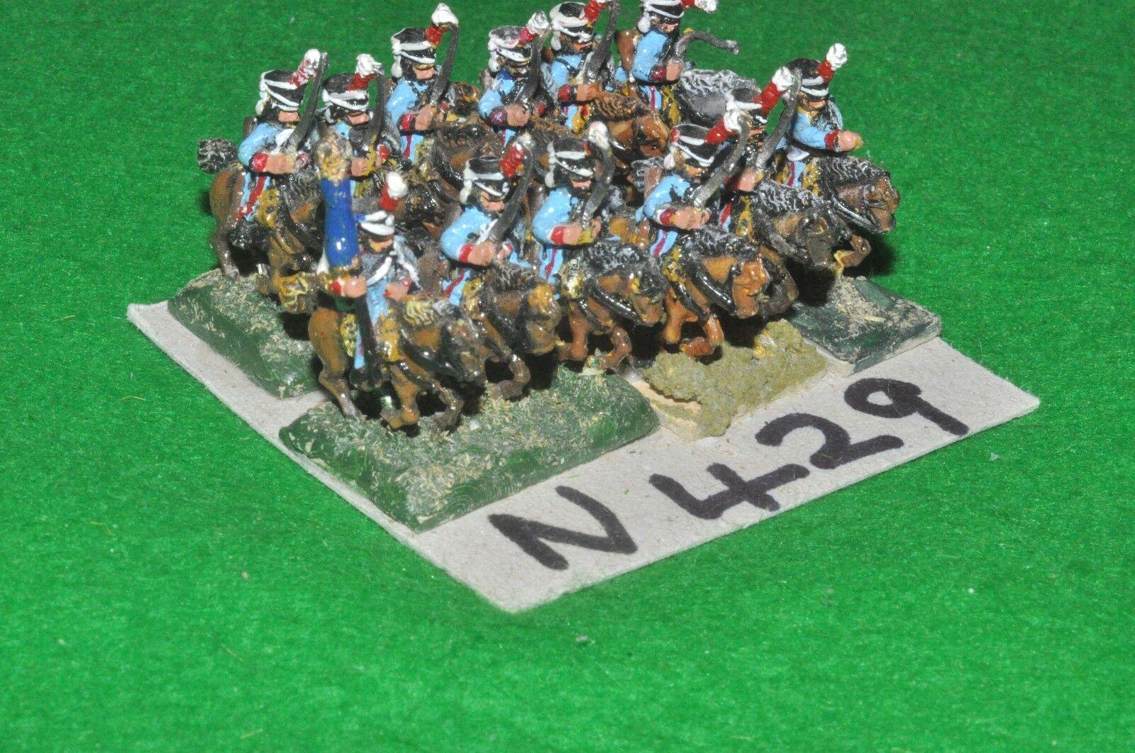 15mm napoleonic   french - 12 cavalry - cav (90429)