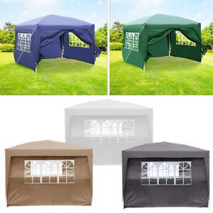 Waterproof 3x3m 260g Pe Garden Gazebo Marquee Canopy Pop