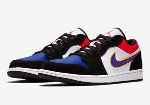 Nike Air Jordan 1 Low Cj9216 051 Black White Gym Red Field Purple